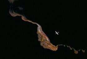 Formation cristalline sur le lac Magadi, Kenya