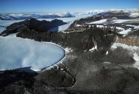 Paysage de montagne : Glacier Antarctique