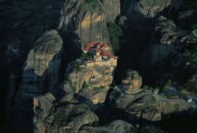 Paysage de montagne : Monastère, Grèce