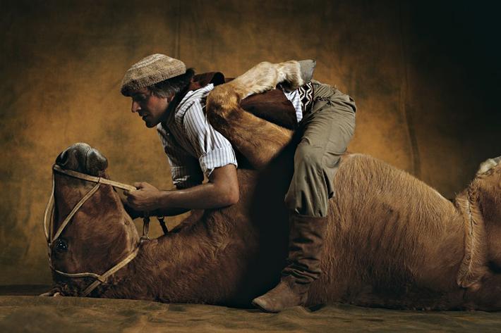 Photo de chevaux : Cheval argentin et son dresseur